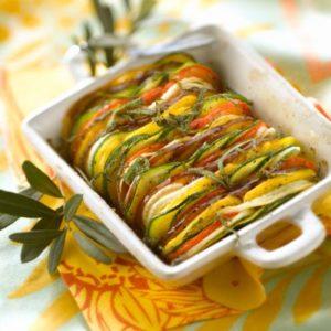 tian de légumes en portion individuel